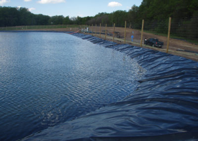 containment pond-liner